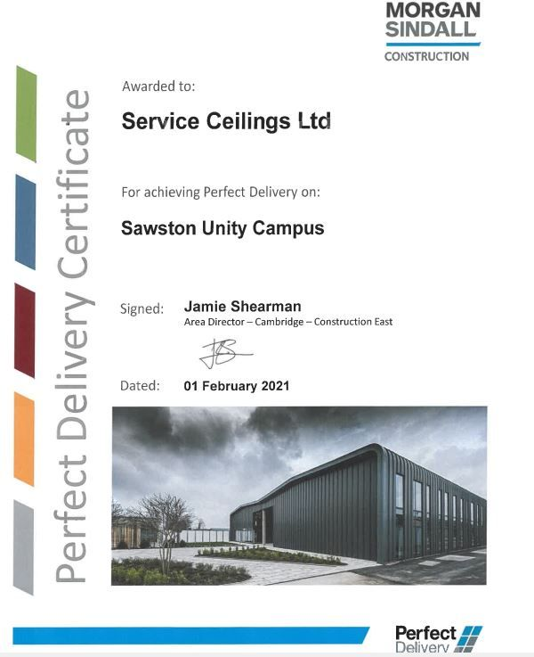 Perfect Delivery – Sawston Unity Campus