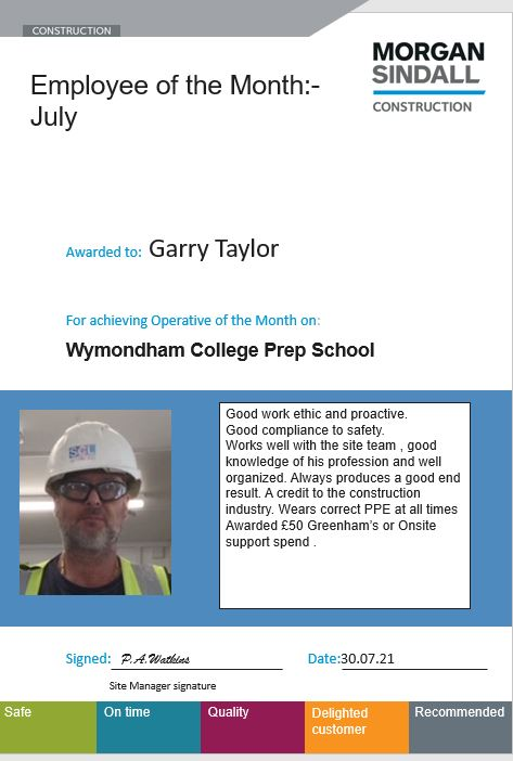 Employee of the month: Garry Taylor