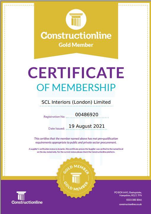 SCL London maintain Constructionline